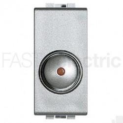 Intrerupator Bticino NT4406 Living Light - Variator rotativ, 100W-500W, 1M, 250V, argintiu