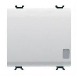 Intrerupator Gewiss GW10113 Chorus - Intrerupator cap cruce 3M 1P 16AX ILL SIG WHITE