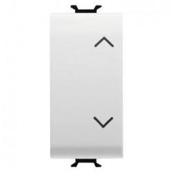 Intrerupator Gewiss GW10140 Chorus - Intrerupator stroruri cu revenire, 3 pozitii, 1M, 1P, NO+NO, 10A, alb