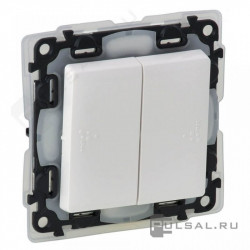 Intrerupator Legrand 752158 Valena Life - Intrerupator cap-scara dublu, IP44, borne automate, 10AX, alb