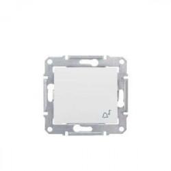 Intrerupator Schneider SDN0800123 Sedna - Intrerupator cu revenire, cu simbol sonerie 10 AX - 250 V, crem