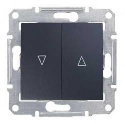 Intrerupator Schneider SDN1300170 Sedna - Intrerupator cu revenire pentru jaluzele cu interblocare electrica, 10 AX - 250 V, grafit