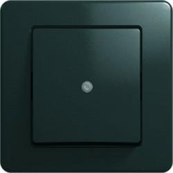 Intrerupator Tem SE10NBIN-B Ekonomik - Intrerupator simplu cu led negru