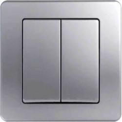 Intrerupator Tem SE50ES-B Ekonomik - Intrerupator dublu argintiu