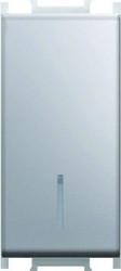Intrerupator Tem SM10ESIN-B Modul - Int.simpl led 1m argintiu