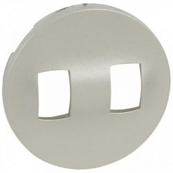 Obturator Legrand 68319 Celiane - Obturator pentru intrerupator cu levier, 2 posturi, argintiu