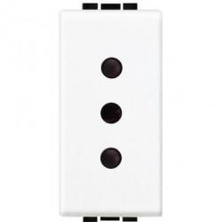 Priza Bticino N4113 Living Light - Priza standard italian, 2P+T, 10A, 1M, alb