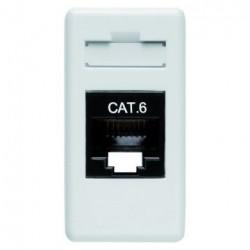 Priza Date Gewiss GW20684 System - Priza RJ45 Cat 6 UTP 1M Alb
