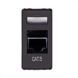 Priza Date Gewiss GW21271 System - Priza RJ45, cat.5e, UTP, 1M, Negru