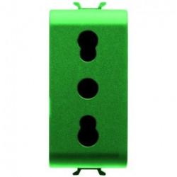Priza Gewiss GW10223 Chorus - Priza st italian, 1M, 2PE, 16A, verde