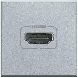 Priza semnal Bticino HC4284 Axolute - Conector HDMI, 2M, argintiu