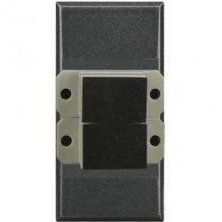 Priza Semnal Bticino HS4268SC Axolute - Conector fibra optica, 1M, negru