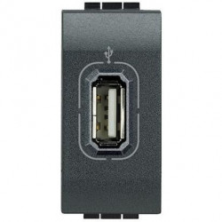 Priza semnal Bticino L4285 Living Light - Conector USB, 1M, negru