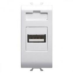 Priza semnal Gewiss GW10457 Chorus - Adaptor USB,1M Alb