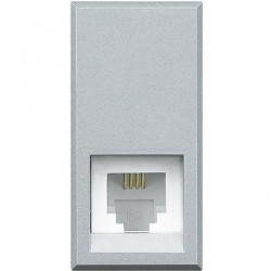 Priza Telefon Bticino HC4258/11N Axolute - Priza Rj11, K10, 1M, argintiu
