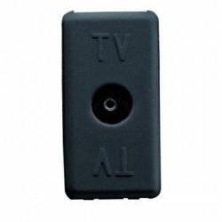 Priza TV Gewiss GW21228 System - Priza TV de capat, Atenuare 0dB, 1M, Mama, Neagra