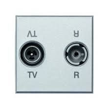 Priza TV/RD Bticino HC4213D Axolute - Priza TV-RD , 2M, argintiu