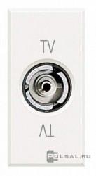 Priza TV/SAT Bticino HD4201D Axolute - Priza TV mama, 1M, alb