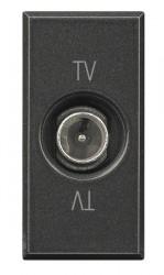 Priza TV/SAT Bticino HS4202PT Axolute - Priza TV de trecere, atenuare 10dB, 1M, negru
