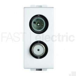 Priza TV/SAT Bticino N4214D Living Light - Priza TV+SAT atenuare 2dB, 1M, alb