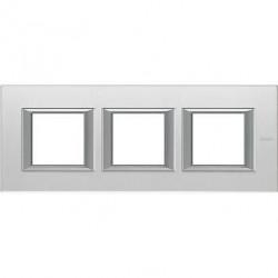 Rama Bticino HA4802M3HVSA Axolute - Rama din sticla, rectangulara, 2+2+2 module, st. german, mirror glass