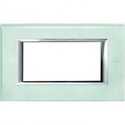 Rama Bticino HA4804VKA Axolute - Rama din sticla, rectangulara, 4 module, st. italian, kristall glass