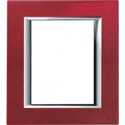 Rama Bticino HA4826RC Axolute - Rama metalica, rectangulara, 3+3 module, st. italian, red china