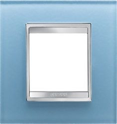 Rama Gewiss GW16225CA Chorus - Rama Lux Internationa, 2M, sticla, oriz., albastru aquamarin