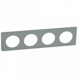 Rama Legrand 68744 Celiane - Rama 4 posturi, polimer, interax 71mm, ciment