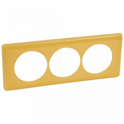 Rama Legrand 68849 Celiane - Rama 3 posturi, polimer, interax 57mm, mandarin