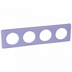 Rama Legrand 68884 Celiane - Rama 4 posturi, polimer, interax 71mm, lavanda