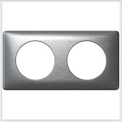 Rama Legrand 68922 Celiane - Rama metalica, 2 posturi, interax 71mm, aluminiu
