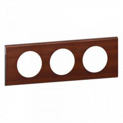 Rama Legrand 69223 Celiane - Rama din lemn, 2 posturi, interax 71mm, acaju