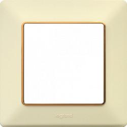 Rama Legrand 754061 Valena Life - Rama 1 post, ivoar/insert auriu