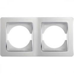 Rama Tem OE20CO-U Ekonomik- Rama dubla orizontala alb cu inel argintiu