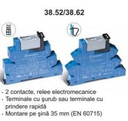 Releu Finder 386200120060 - Releu comutatie 12V, AC/DC, 2C, 8A