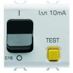 Siguanta Gewiss GW10488 Chorus - Disjunctor modular diferential RCCB, 2M, 1P+N, 16A, C, 3kA, 10mA, alb