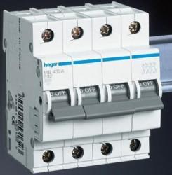 Siguranta automata Hager MC406A - DISJUNCTOR 4P, 6A, 6kA, C, 4M