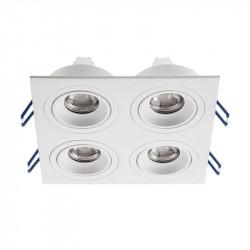 Spot Arelux XFrame FR04 MWH - Corp iluminat fara led XFRAME MR16 4XGU10 IP20 MWH, alb