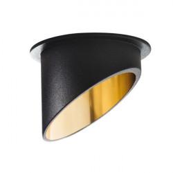Spot Kanlux 27324 Spag - Inel spot incastrat LED GU10, max 35W, negru/auriu