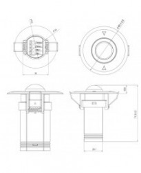 PIR-045 - Fotoelektrični Senzor Pokreta