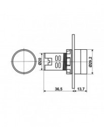 AD116-22DSF Crvena 220V - Blinkajuća Sijalica