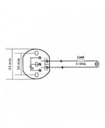 OT-PT100 0–50°C - Okrugli Temperaturni Transmiter