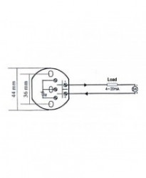 OT-PT100 0–100°C - Okrugli Temperaturni Transmiter