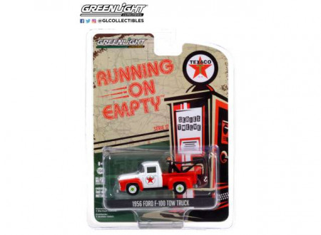 GREENLIGHT 1:64 - FORD F-100 1956 TOW TRUCK TEXACO FILLING STATION *RUNNING ON EMPTY SERIES 12*, RED/WHITE