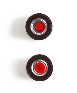 HERPA 1:87 - Medi wheelset for rigid trailer, silver/red (Content: 5 pieces)