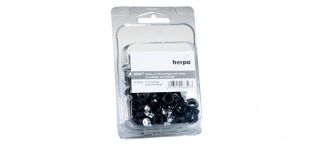HERPA 1:87 - Set of wheels for trailer and semitrailer, chromium plated Content: 60 pcs.