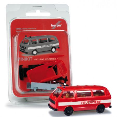 """HERPA (MINIKIT) 1:87 - VOLKSWAGEN T3 Bus """"fire department"""""""
