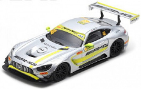 SPARK 1:64 - MERCEDES AMG GT3 2017 #48 DRIVING ACADEMY WINNER *RESIN SERIES*, WHITE/YELLOW