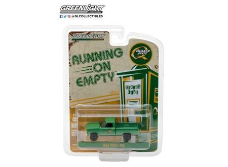 GREENLIGHT 1:64 - 1969 FORD F-100 'QUAKER STATE', RUNNING ON EMPTY SERIES 5, GREEN